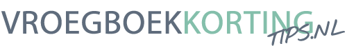 Vroegboekkorting tips Logo